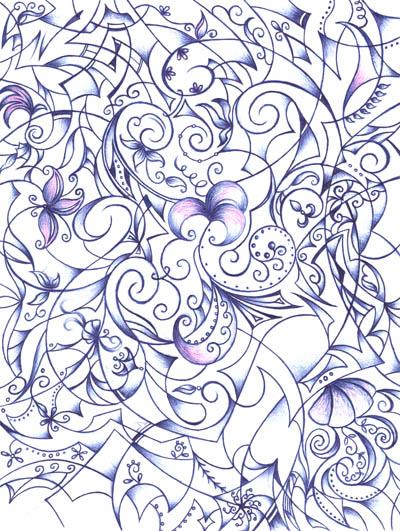 Рисунки шариковыми ручками Внутри волшебства