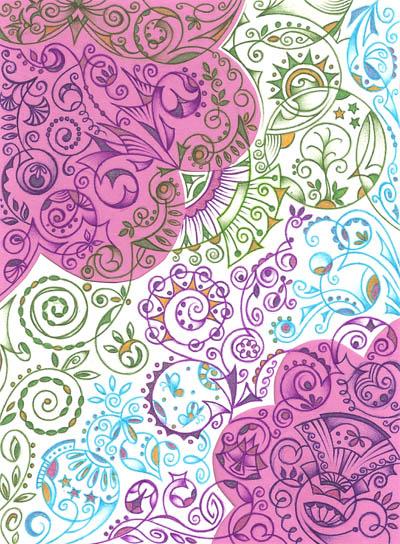 Рисунки шариковыми ручками Хуторной Елены Душу наполняет красота