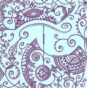 Рисунки шариковыми ручками Хуторной Елены Терпение