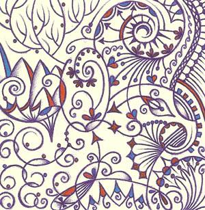 Графические рисунки ручками Хуторной Елены Осознанность