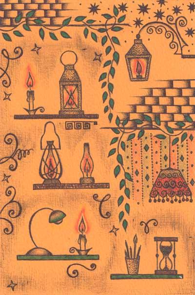 Рисунки Елены Хуторной шариковыми ручками Свет души
