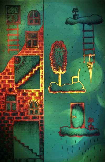 Фантазийные рисунки, метафорические карты Ступень за ступенью