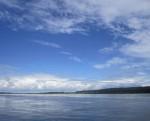 Фотографии лета, фото реки, небо, облака Миниатюра