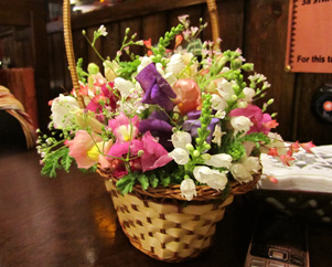 После праздника, букет цветов Миниатюра