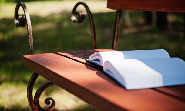 Лучший подарок Книга на скамейке