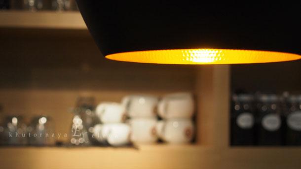 Красивые фотографии Лампа в кофейне
