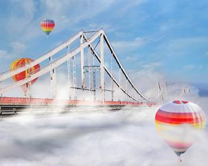 Здесь и сейчас Миниатюра, мост воздушные шары