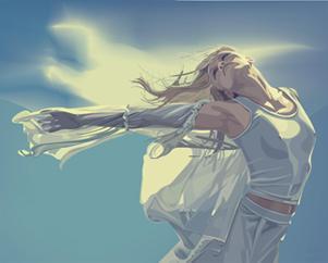 Пусть ветер подхватывает Миниатюра, ветер рисунок
