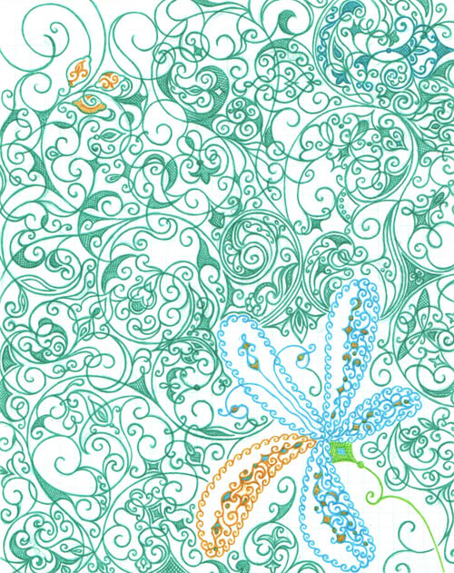 Рисунки на тетрадных листах