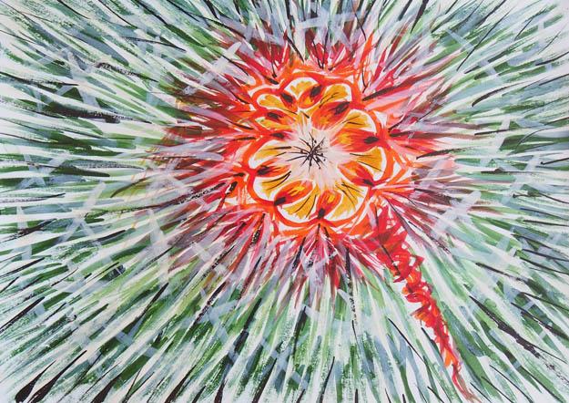 Рисунок акварельными красками