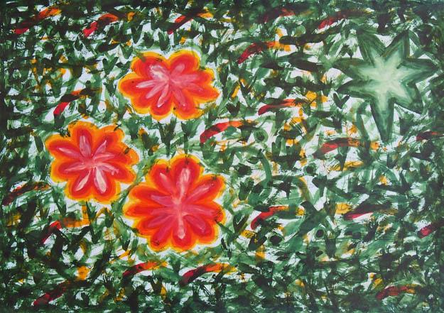 Рисунок акварельными красками Летний день