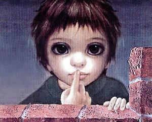 Маргарет Кин картины Дети с большими глазами