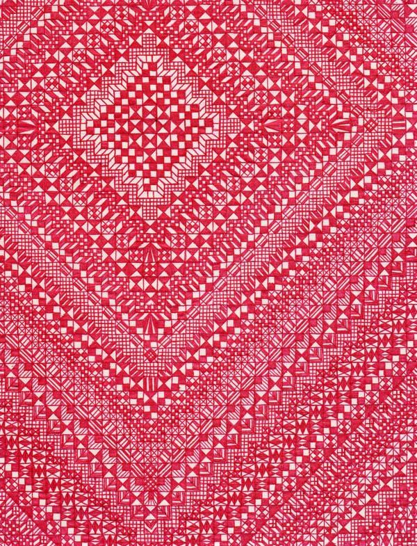 Рисунки шариковыми ручками на тетрадном листе Корзинка с вишнями