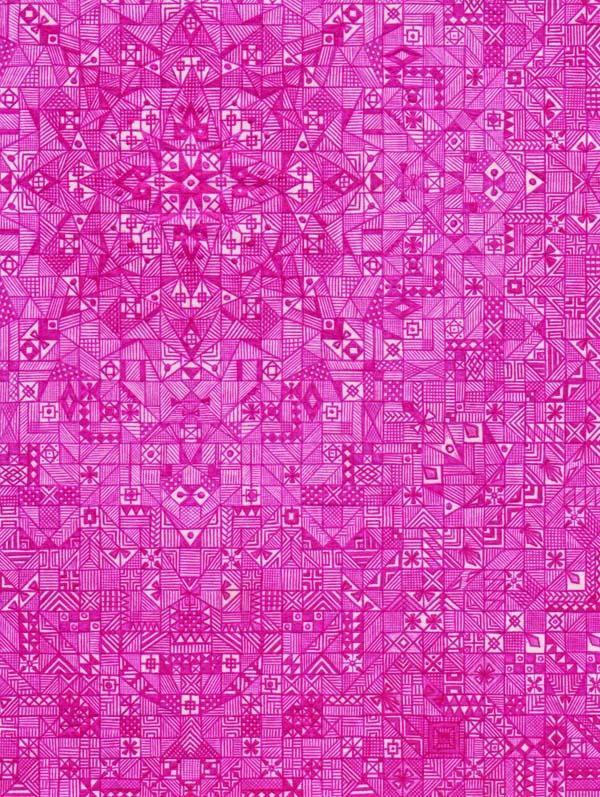 Рисунки шариковыми ручками на тетрадном листе Розовый сад