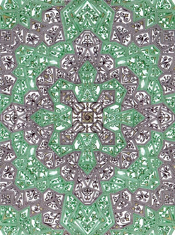 Рисунок шариковыми ручками на тетрадном листе Машинная вязь