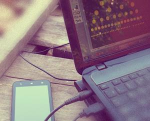 Любимая работа Ноутбук телефон