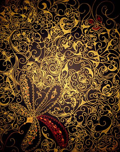 Интуитивные карты, рисунки со смыслом Бархат в золоте