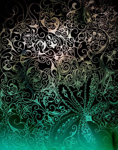 Интуитивные карты, графические рисунки цветов Подземное течение