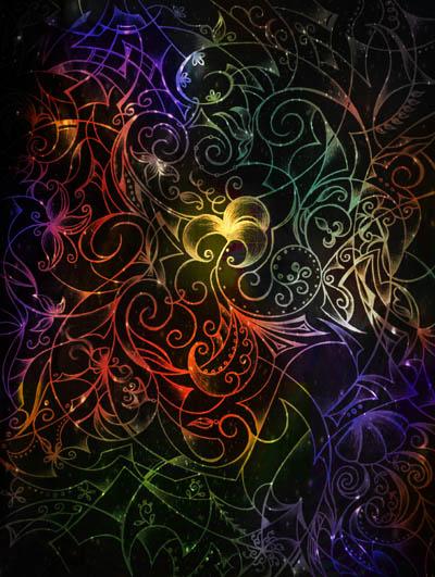 Графические рисунки цветов, интуитивные карты Со-цветие