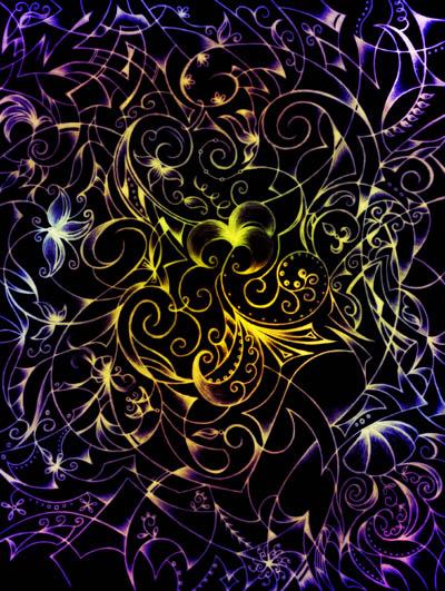 Графические рисунки цветов, метафорические карты Найди в себе