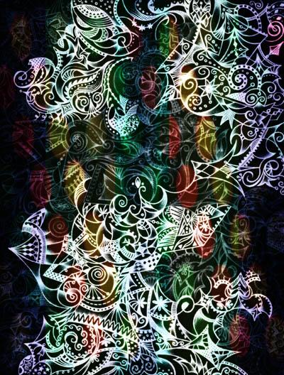 Декоративные настенные панно, метафорические карты Тишина светится звездами
