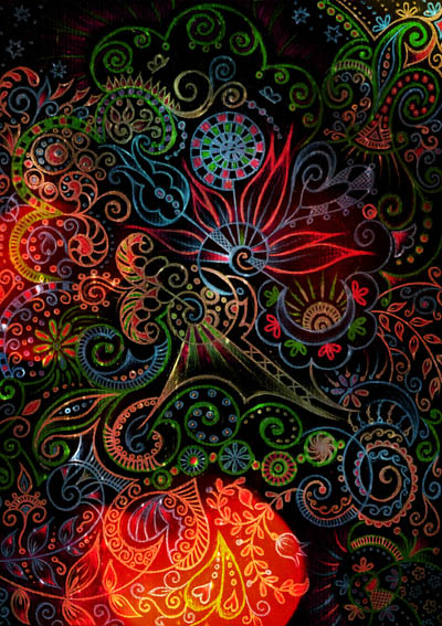 Интуитивные карты, душевные рисунки Танец ночной бабочки