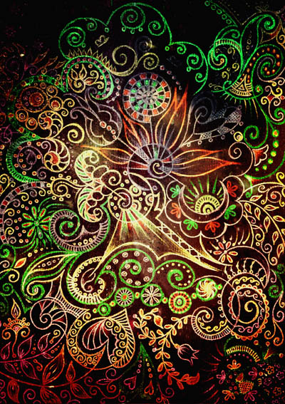 Метафорические карты, графические рисунки цветов Мудрость волшебного сада