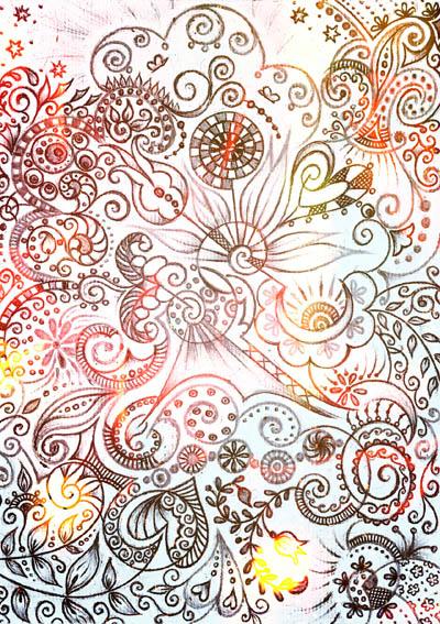 Графические рисунки цветов, метафорические карты Будет легче