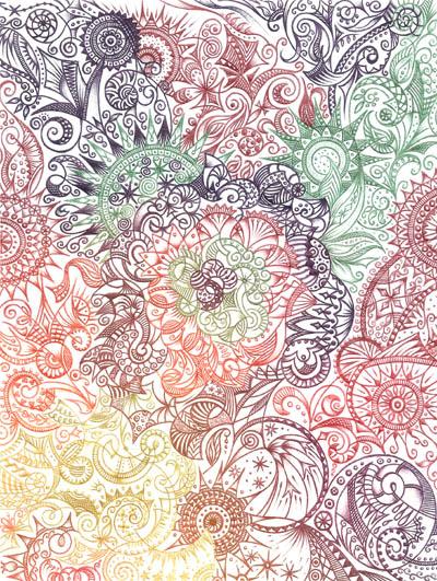 Метафорические карты, вдохновляющие рисунки Весна