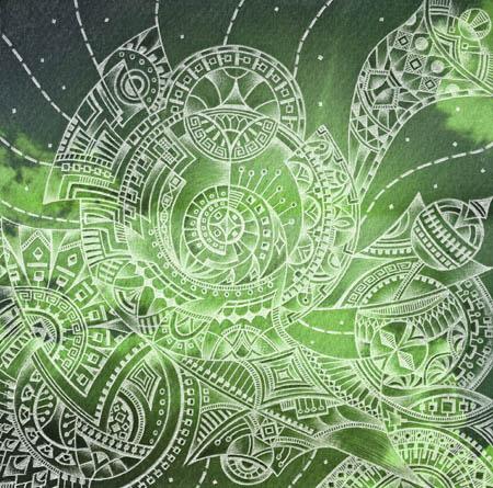 Метафорические карты, мистические рисунки Зеленое море