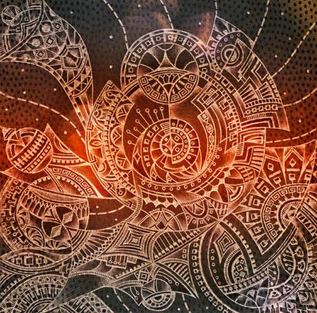 Метафорические карты, мистические рисунки Прячась под леопардовой шкурой