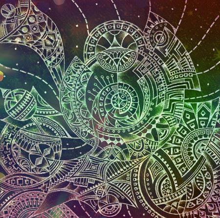 Интуитивные карты, мистические рисунки Здесь это там