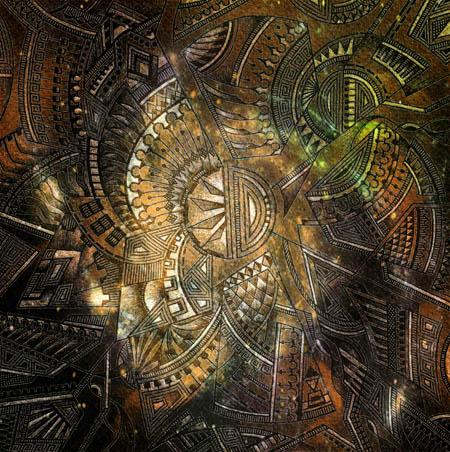 Интуитивные карты, абстрактные рисунки Разъединение