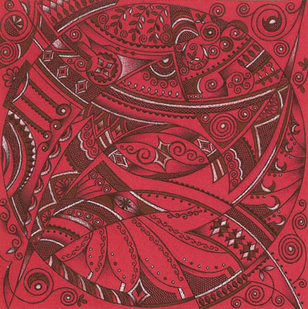Рисунок-портрет. Виньетки и чулки в сетку