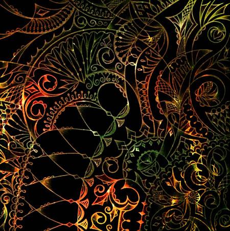 Интуитивные карты, таинственные рисунки На кованой ограде чья-то тень