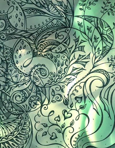 Вдохновляющие рисунки, интуитивные карты Я вода