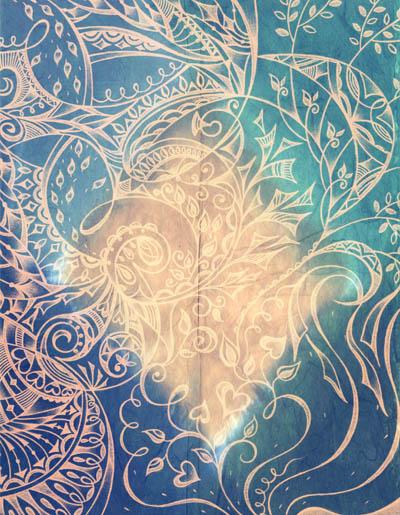 Красивые нежные рисунки, интуитивные карты Сатиновое заклинание