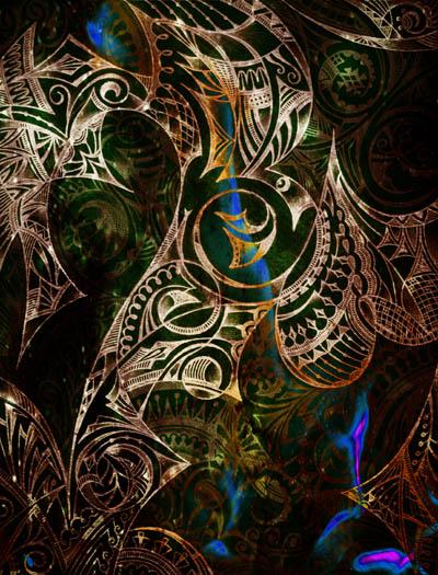 Интуитивные карты, мистические рисунки Насквозь пронизано