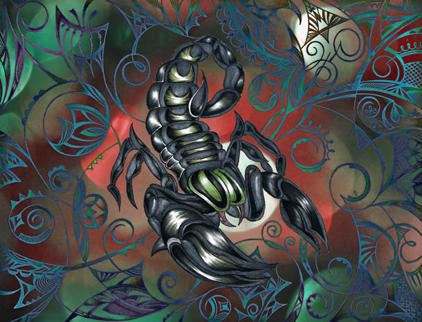 Скорпион рисунки, метафорические карты Здравомыслие