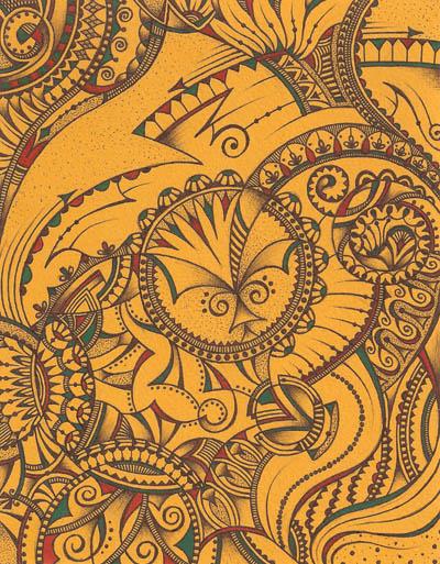 Интуитивные карты, рисунки шариковыми ручками Разгон