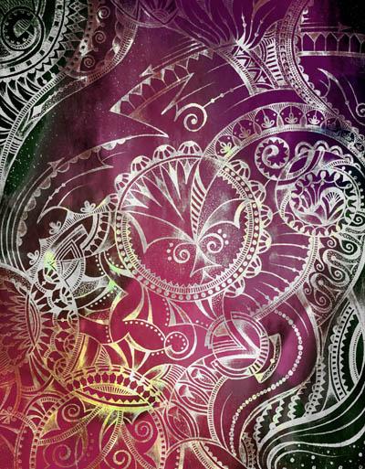 Метафорические карты, мистические рисунки Серебряная луна