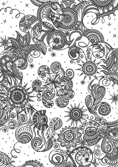 Метафорические карты, рисунки шариковыми ручками Иди вверх