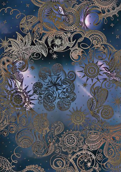 Метафорические карты, фантазийные рисунки Шелковая луна