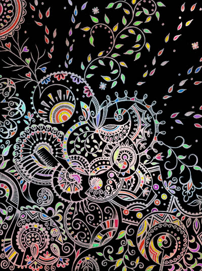 Метафорические карты, красивые необычные рисунки Тишина внутри меня