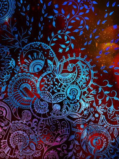 Метафорические карты, графические рисунки цветов Велисавель
