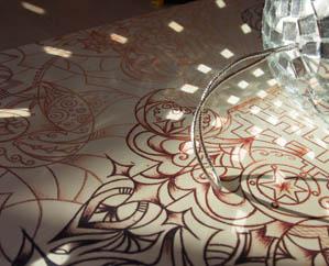 Фантазийный рисунок, зеркальные блики