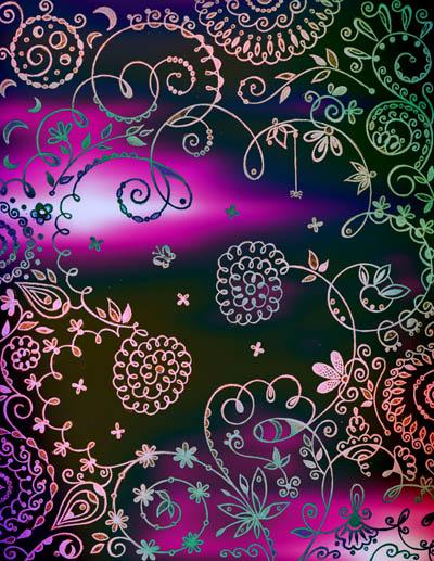 Метафорические карты, графические рисунки цветов Цвет печали