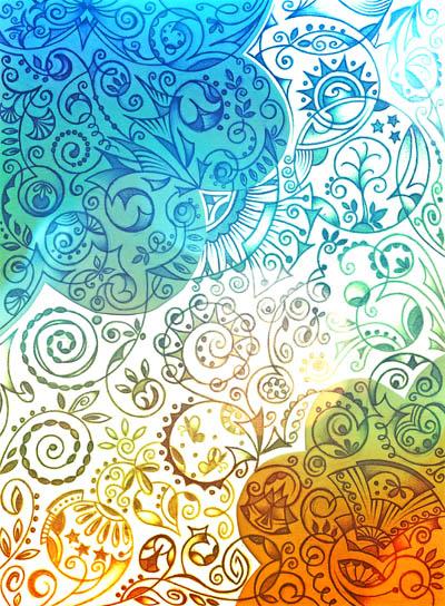 Вдохновляющие рисунки, метафорические карты Между морем и солнцем