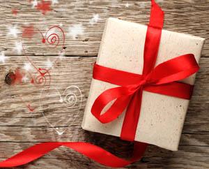 Душевный подарок Красная лента