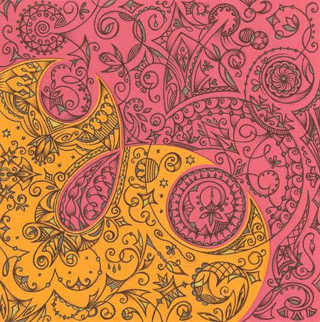 Метафорические карты, рисунки шариковыми ручками Упоение жизнью